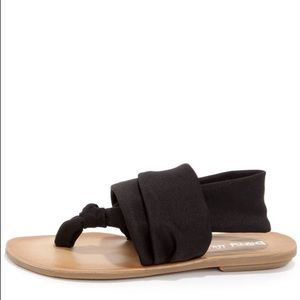 Dirty Laundry Beebop Shimmer Black Thong Sandals